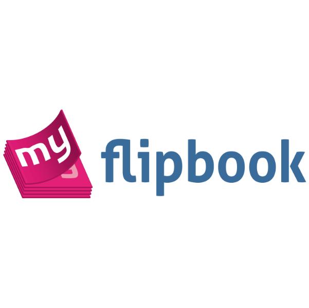 logo flipbook montrant un petit livre ouvert