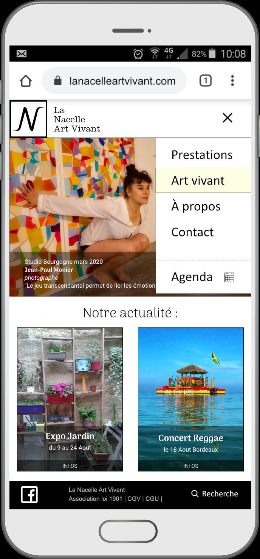Affichage du menu mobile