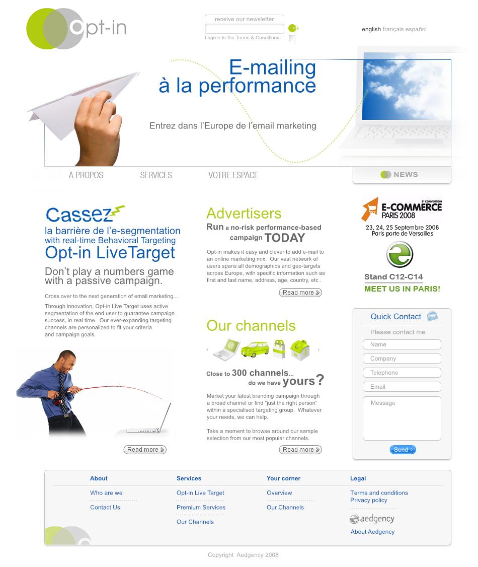 Site email-marketing ciblé home